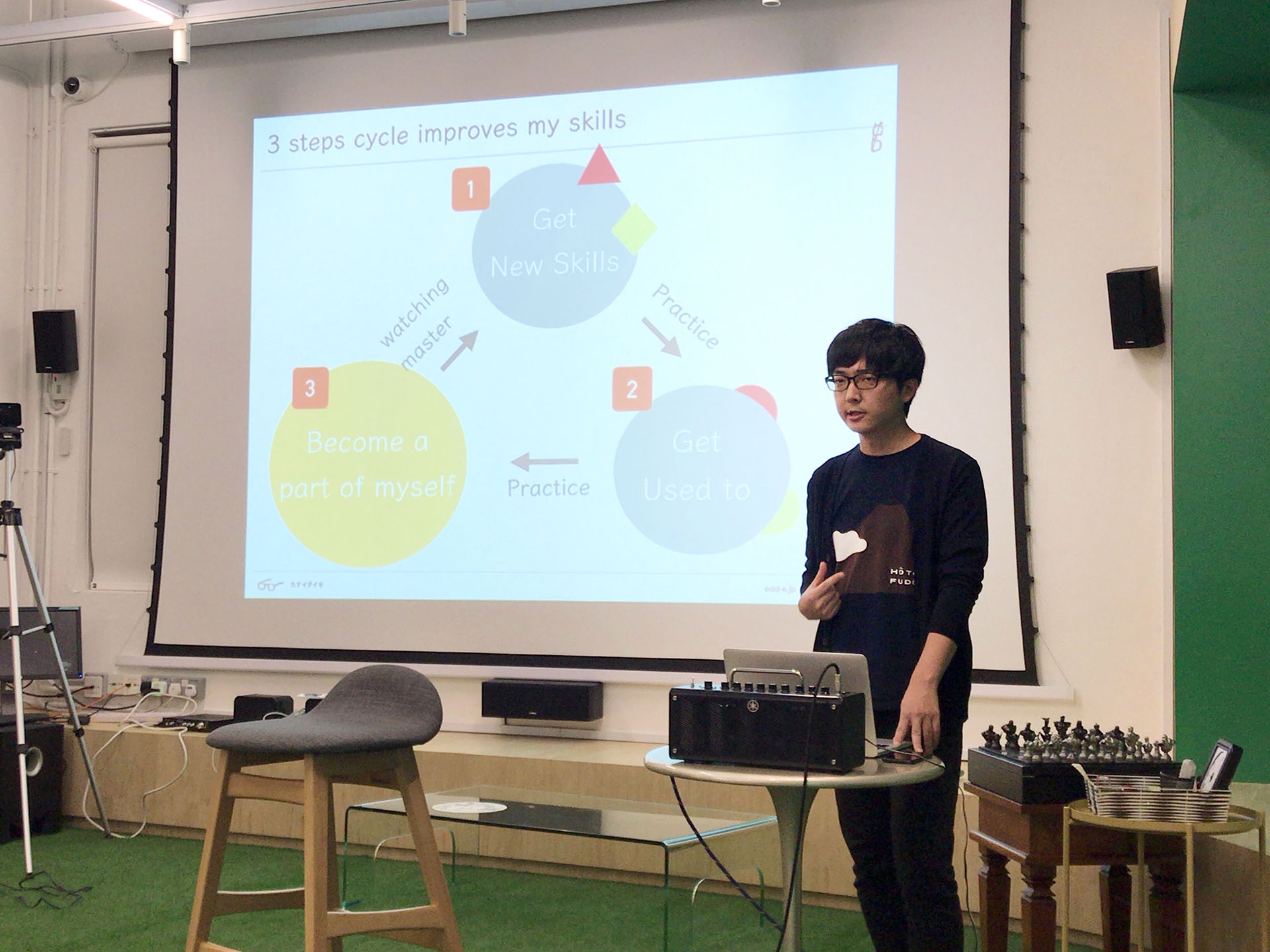 Agile Singapore主催『Similarities of Playing Guitar and Coding』に、弊社 金井 大輝が登壇いたしました
